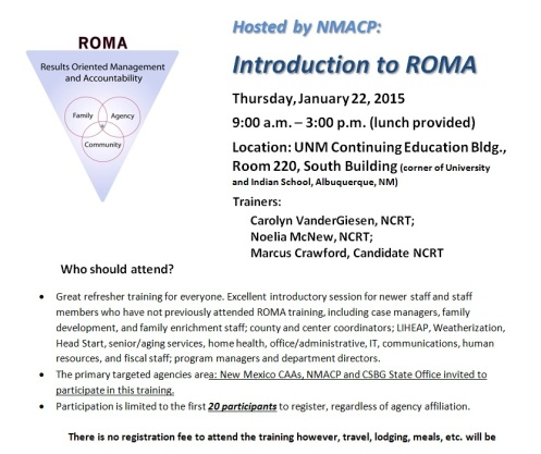 web ROMA training